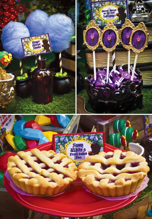 snow white evil queen magic mirror party desserts
