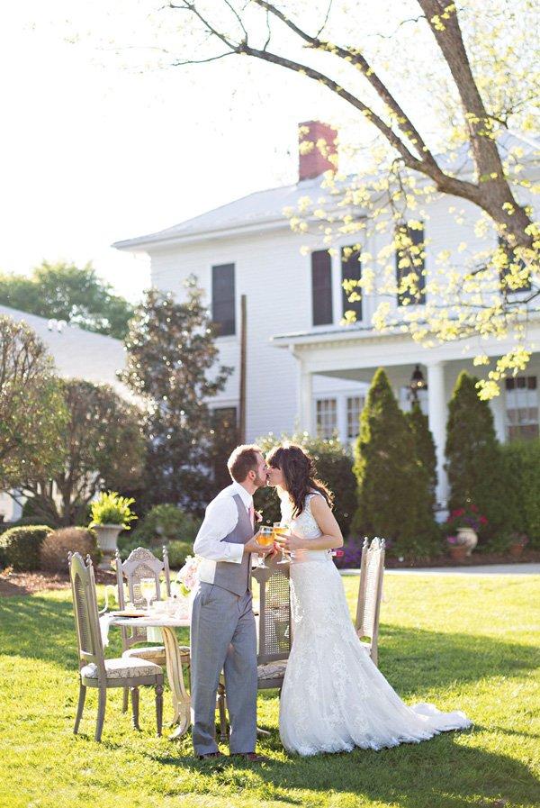 outdoor southern wedding tea party photo shoot