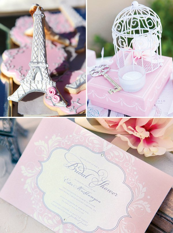 paris inspired party decor and invitation