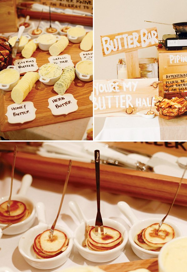 party's butter bar with different flavored butter