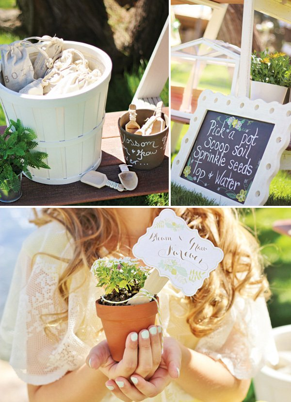 flower planting party activity