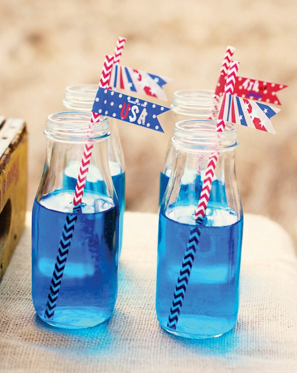 blue punch and patriotic 4th of july printables