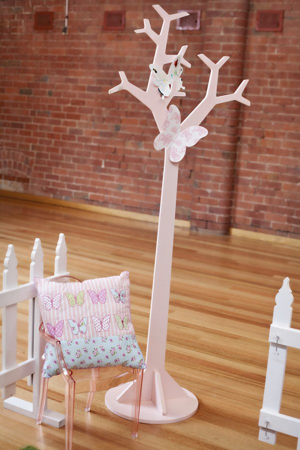 pink butterfly tree party decoration