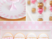 pink ruffle cupcakes and cookies
