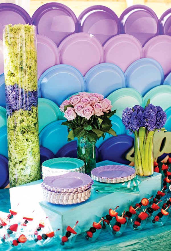 plate mermaid scales backdrop