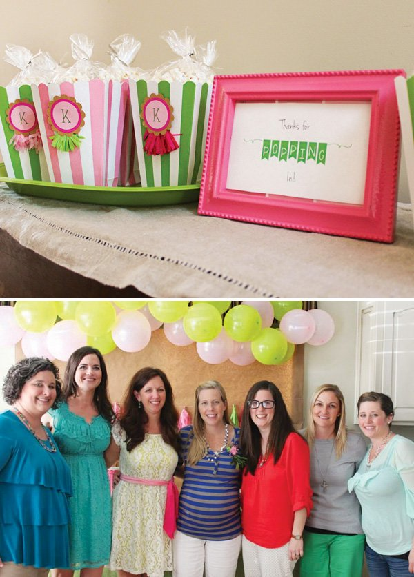 baby shower popcorn box party favors