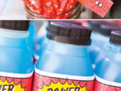 power punch super hero blue drink