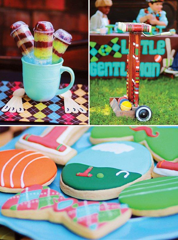 preppy croquet party desserts