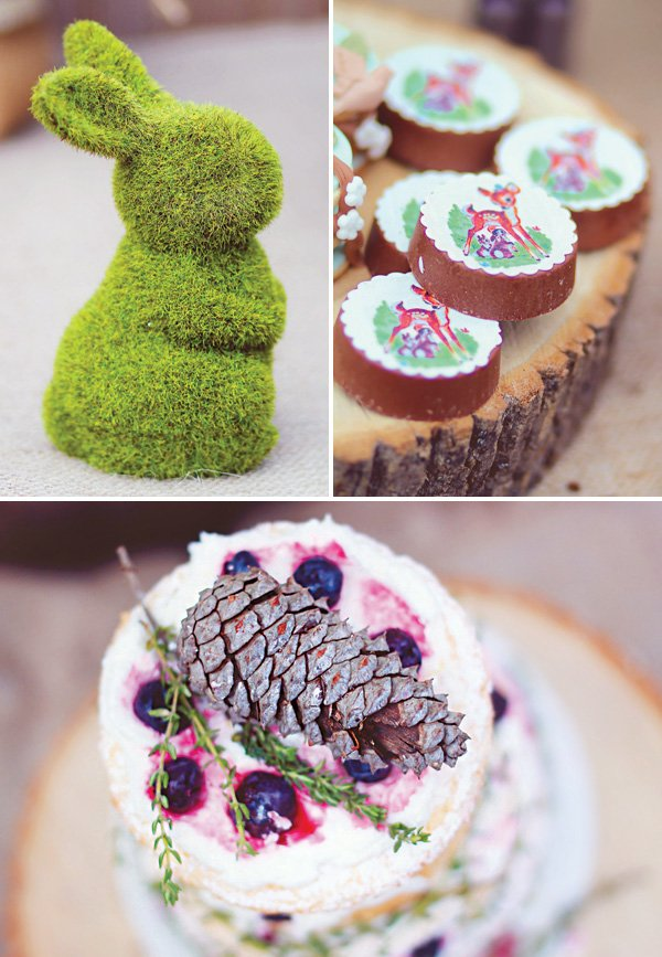 rustic garden party desserts and decor