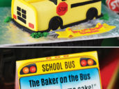 school bus birthday cake