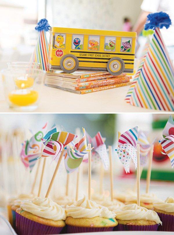 sesame street party table centerpiece ideas