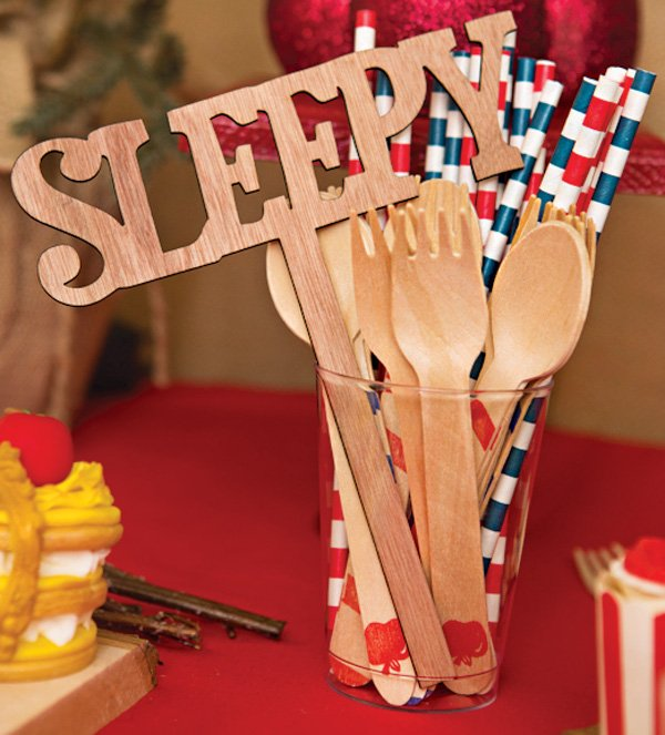 seven dwarfs photo booth wooden name sign props
