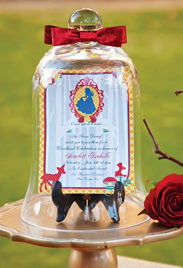 snow white birthday party invitation