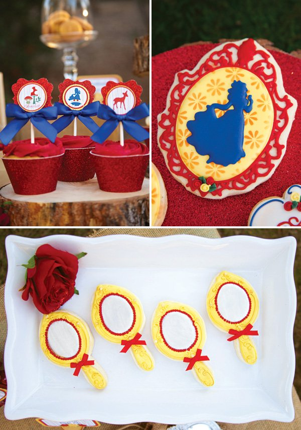 snow white inspired desserts