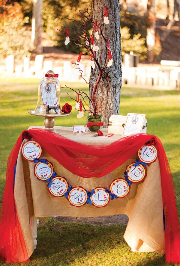 snow white wishing tree table