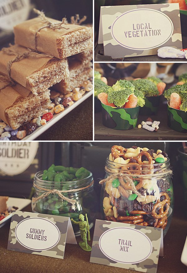 army soldier party food ideas