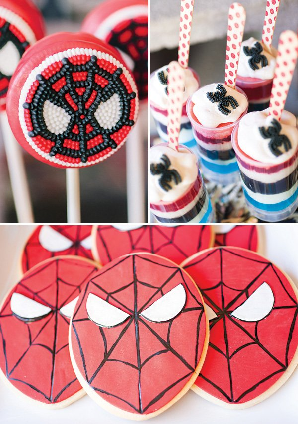 spiderman party dessert ideas