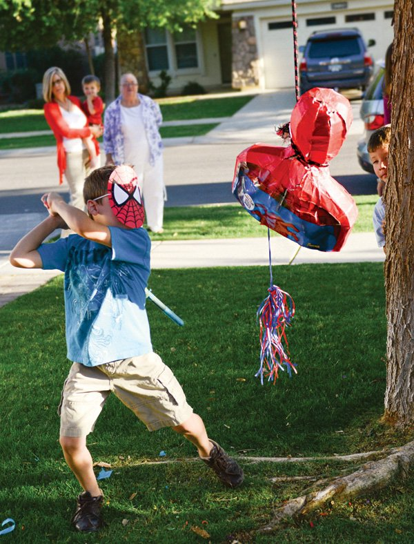 spiderman party piñata