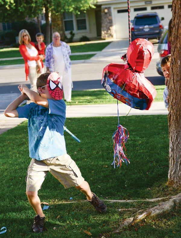 spiderman party piñata