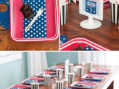 boy's sports birthday party tablescape