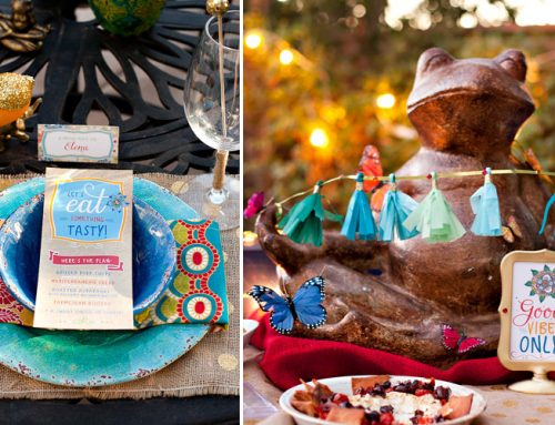 Colorful & Eclectic Summer Dinner Party {+ Free Printables}