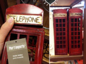 Telephone Booth Wine Bottle Holder