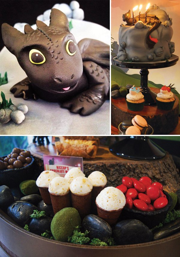 how to train your dragon toothless birthday cake topper