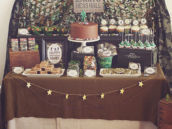 toy soldier camo desserts table