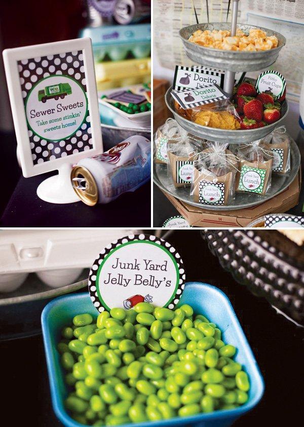 trash bash party snack ideas