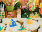 tropical beach themed desserts