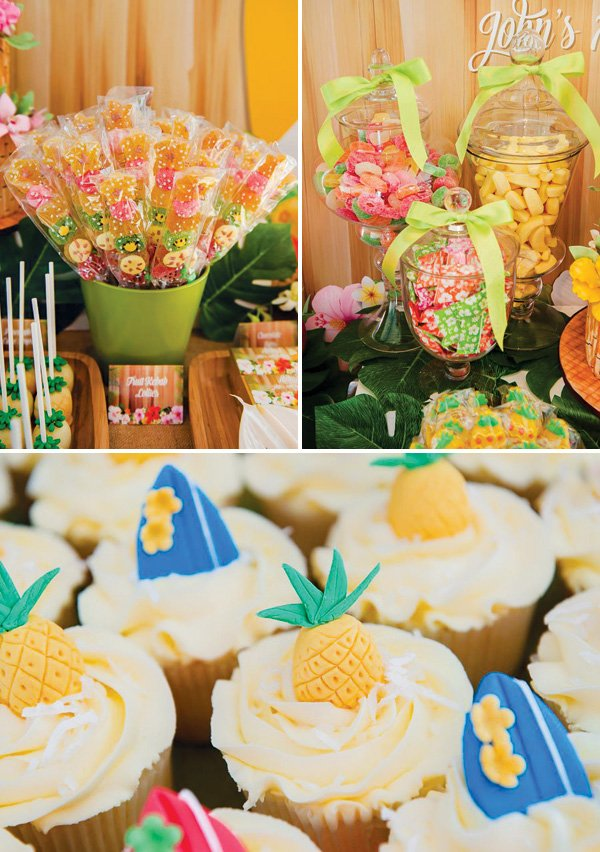 tropical beach themed desserts
