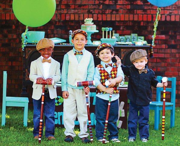 vintage little boy's tea party outfits
