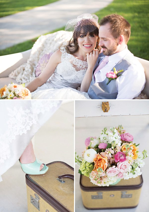 vintage southern wedding and the bride's mint heels