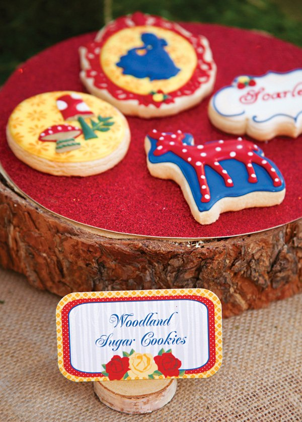 woodland animals and snow white cookies