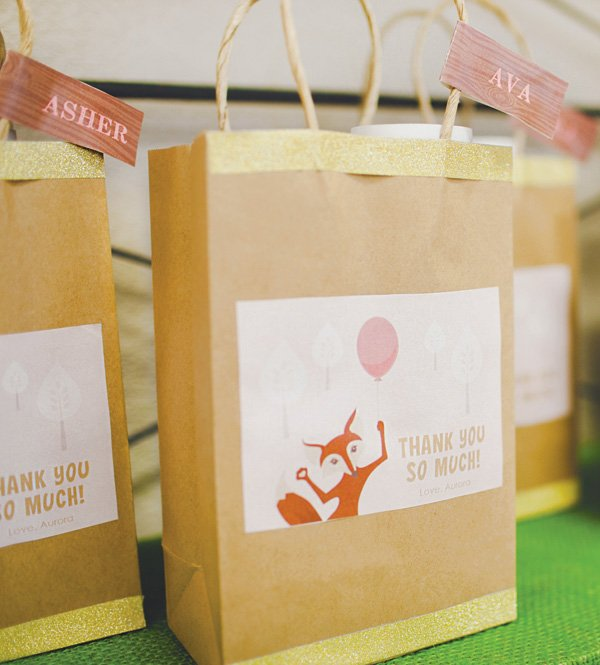 woodland creature party favors