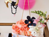 Girlie Flamingo Party Centerpiece