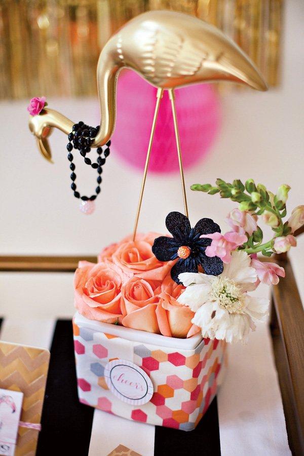 Girlie Flamingo Party Centerpiece