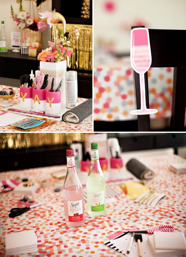 cocktails and crafting girls night in