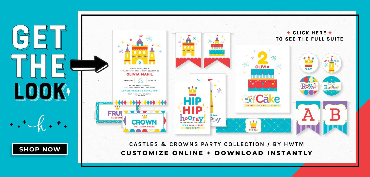 Royal Birthday Party Printables
