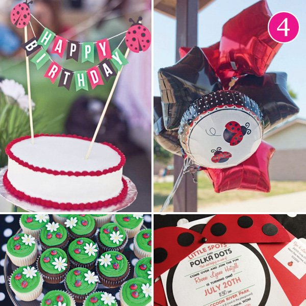 DIY ladybug picnic birthday party