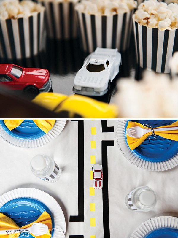 DIY road table cloth