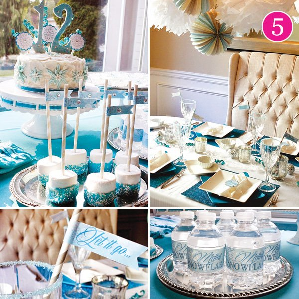 sophisticated frozen birthday party