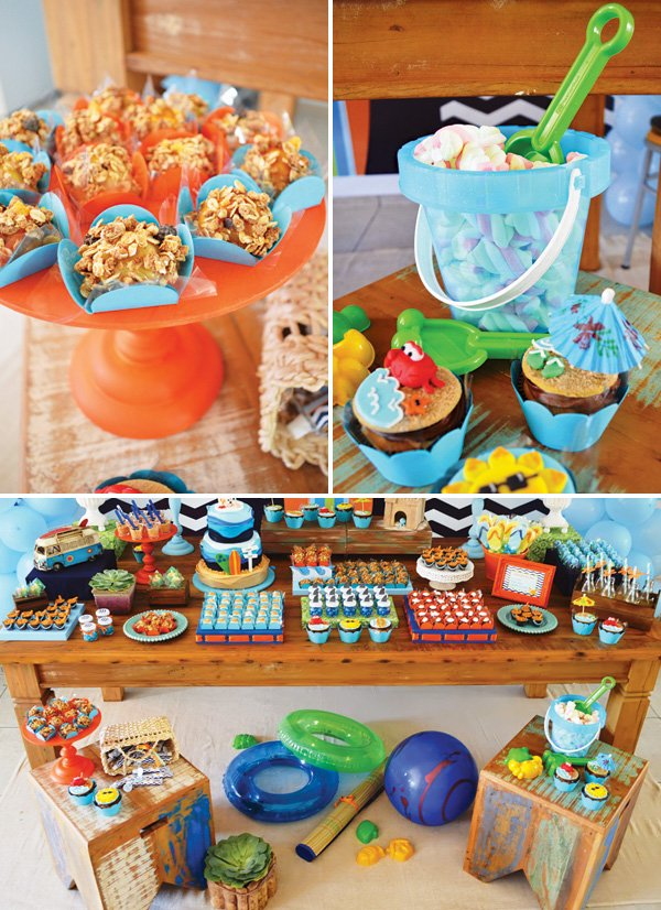 beach themed birthday party decoration ideas