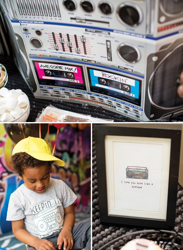 boombox hip hop party decoration ideas