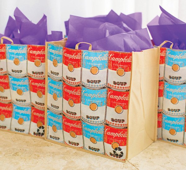 campbells soup can party favor tote bags