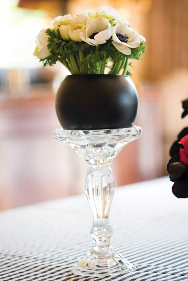 candlestick flower vase