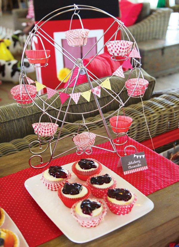 carnival party cupcake ferris wheel