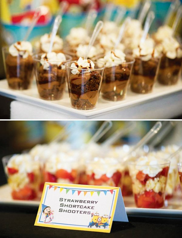 chocolate and strawberry shortcake shooters