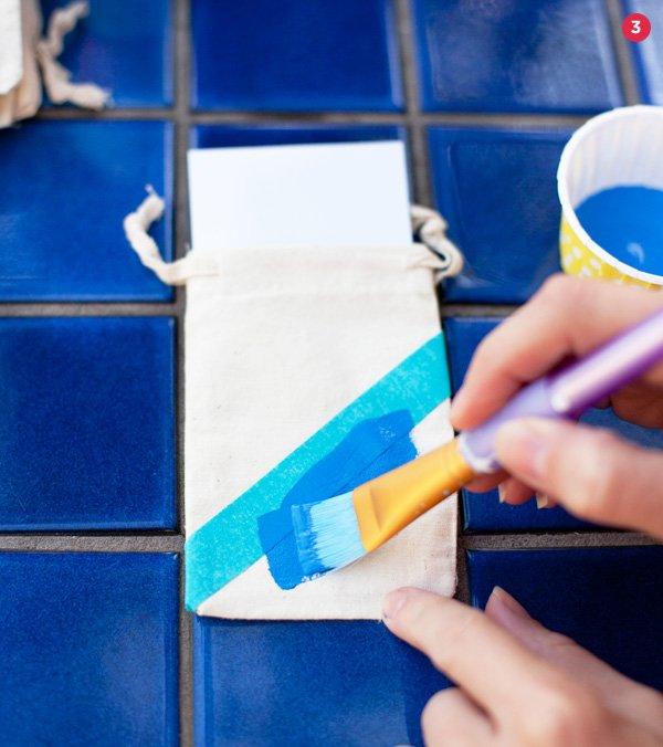 color blocked favor bag tutorial step 3
