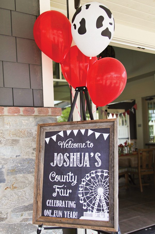 county fair first birthday welcome sign